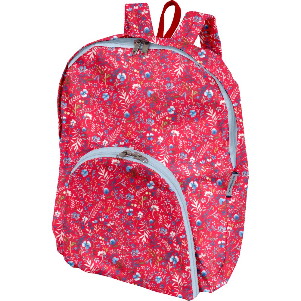 Foldable rucksack  cherry cornflower