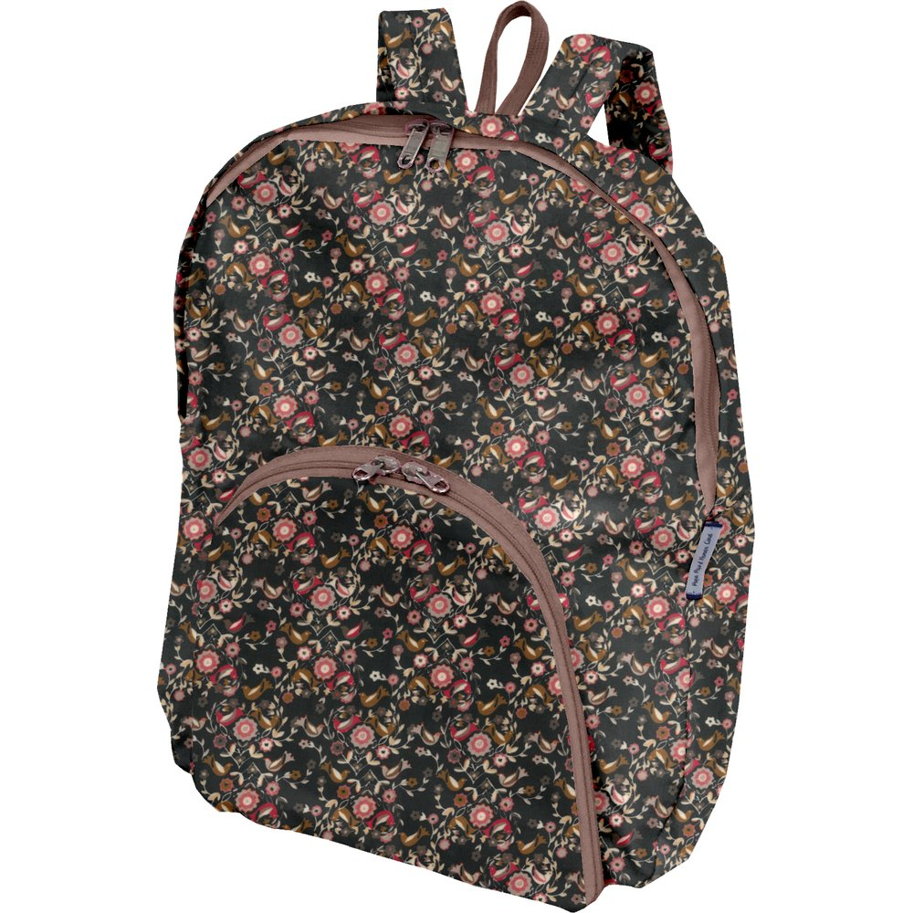 Foldable rucksack  ochre bird
