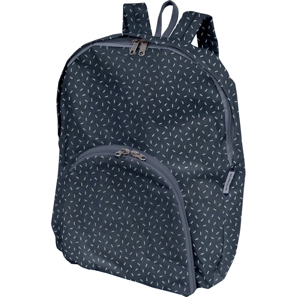 Foldable rucksack  silver straw jeans
