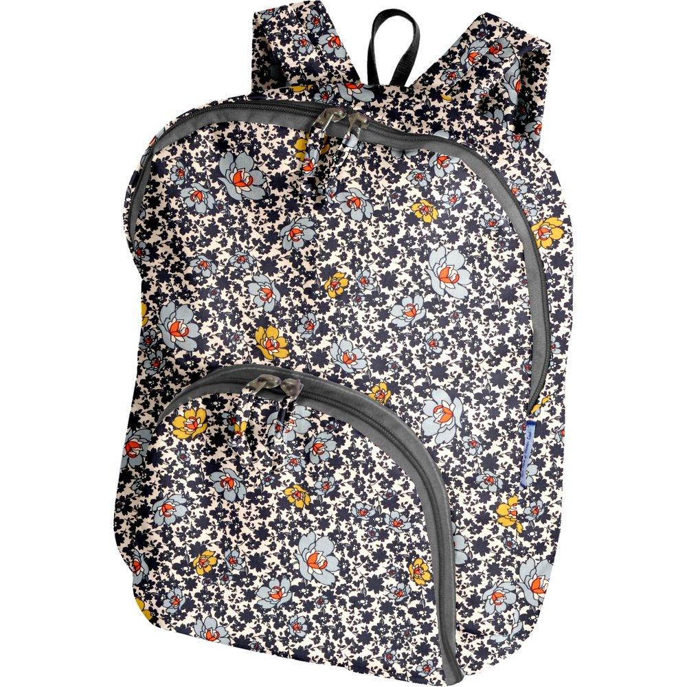 Foldable rucksack  ochre flower