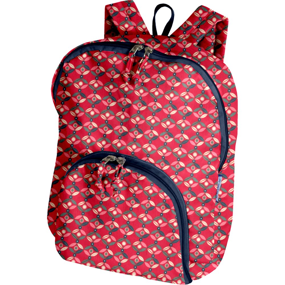 Foldable rucksack  paprika petal