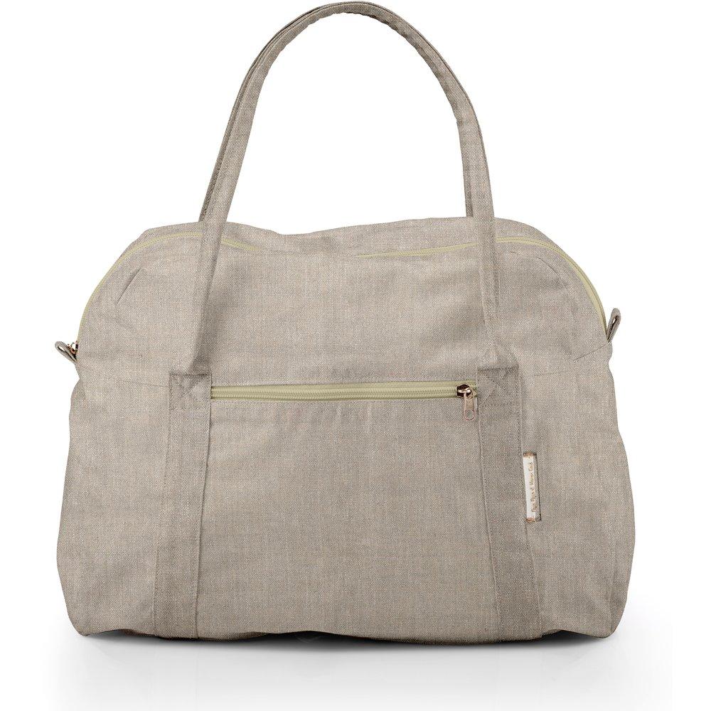 Bowling bag  silver linen