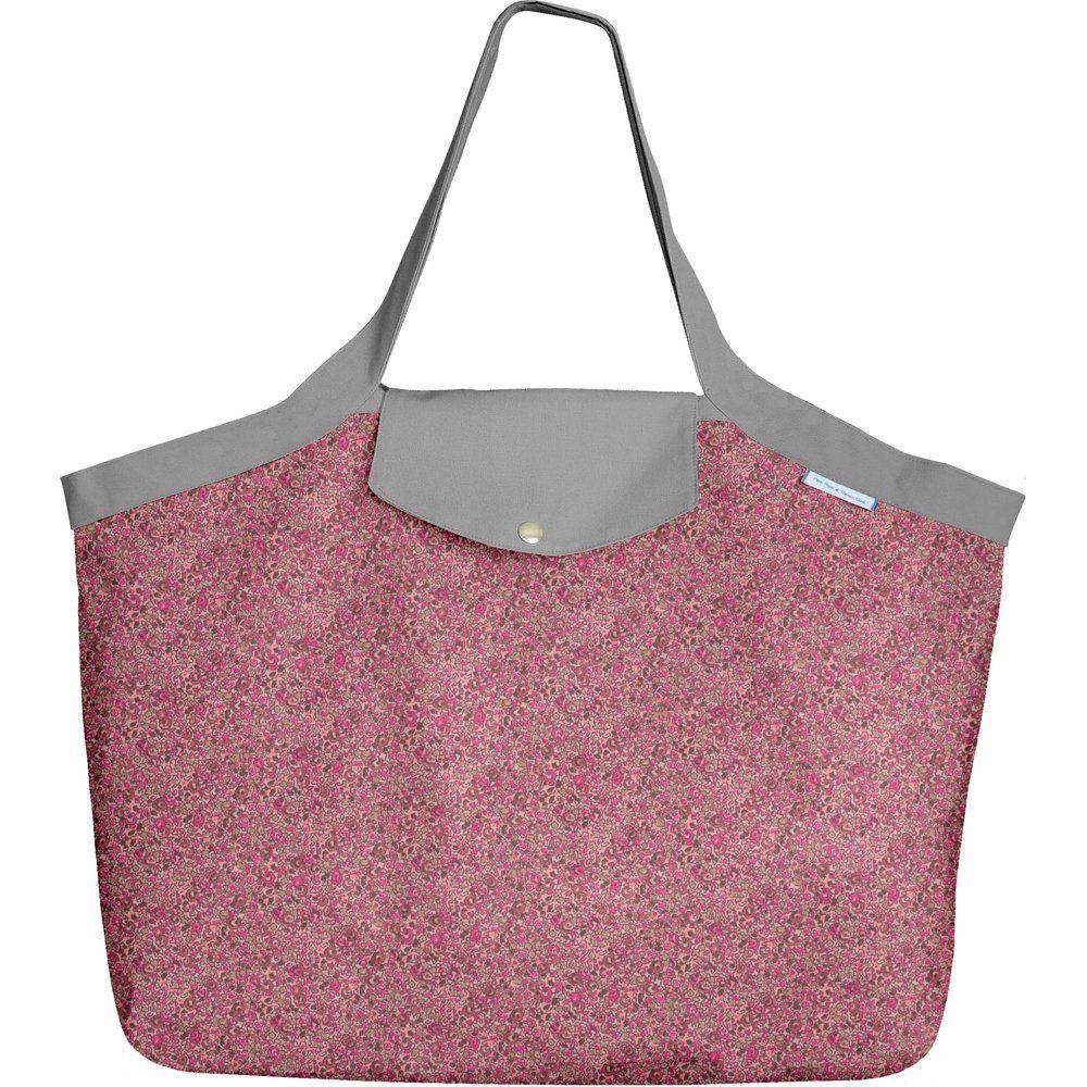 Grand sac cabas lichen prune rose