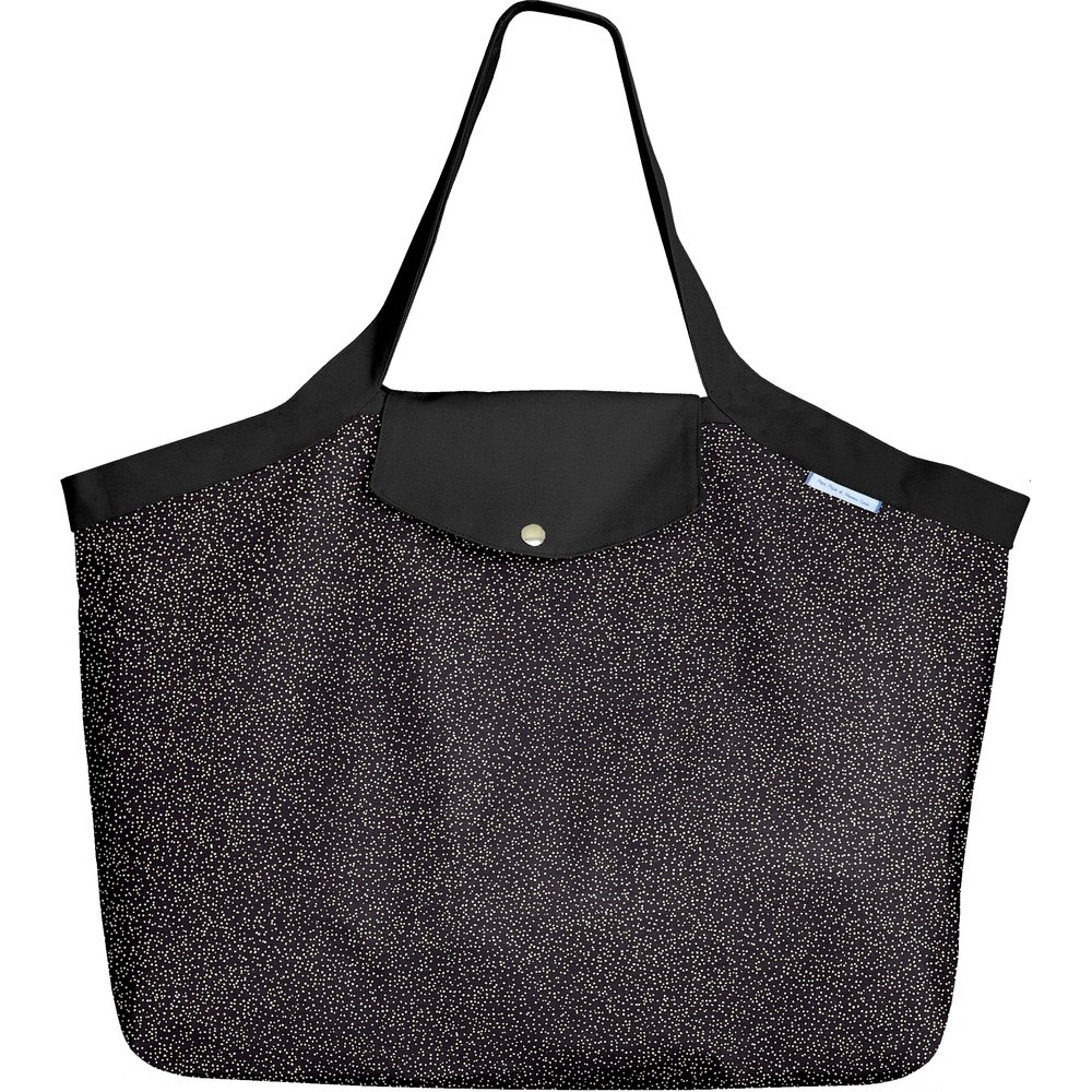 Tote bag with a zip noir pailleté