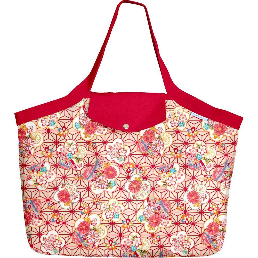 Grand sac cabas  origamis fleuris