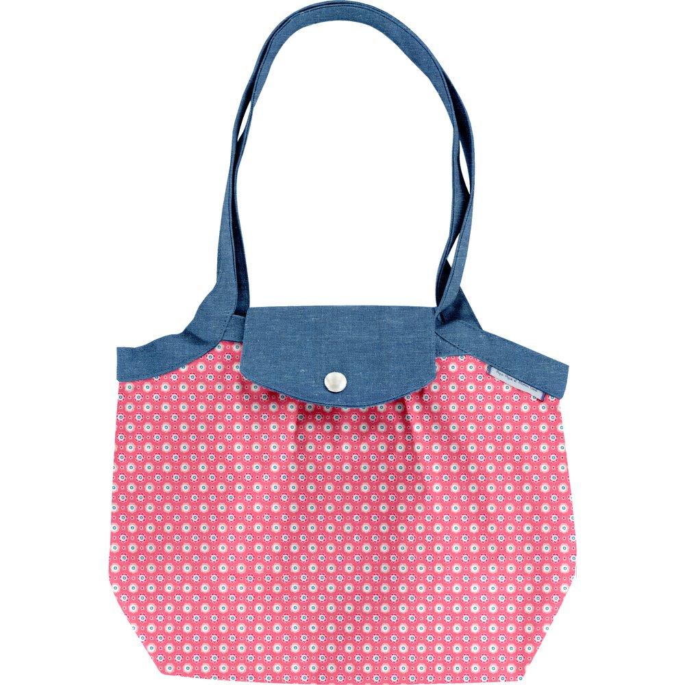 Petit sac cabas plissé  fleurette blush