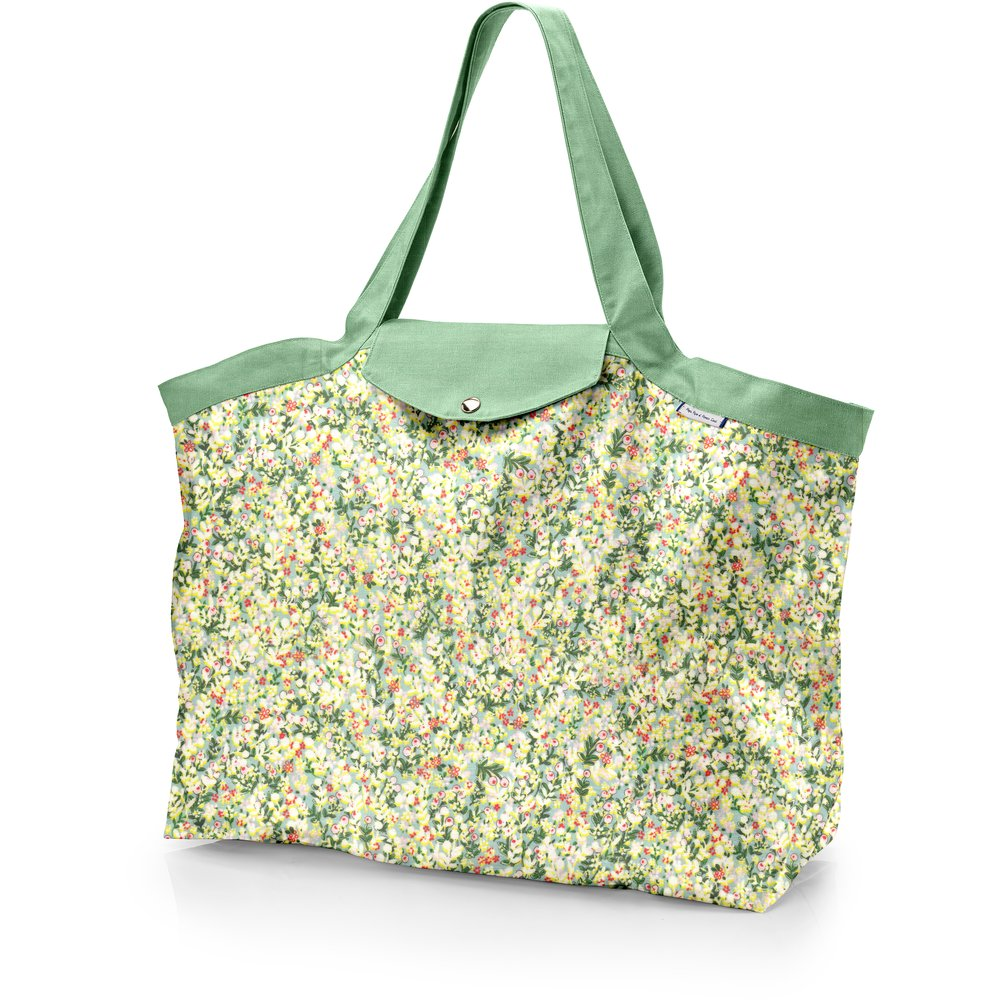 Tote bag with a zip menthol berry