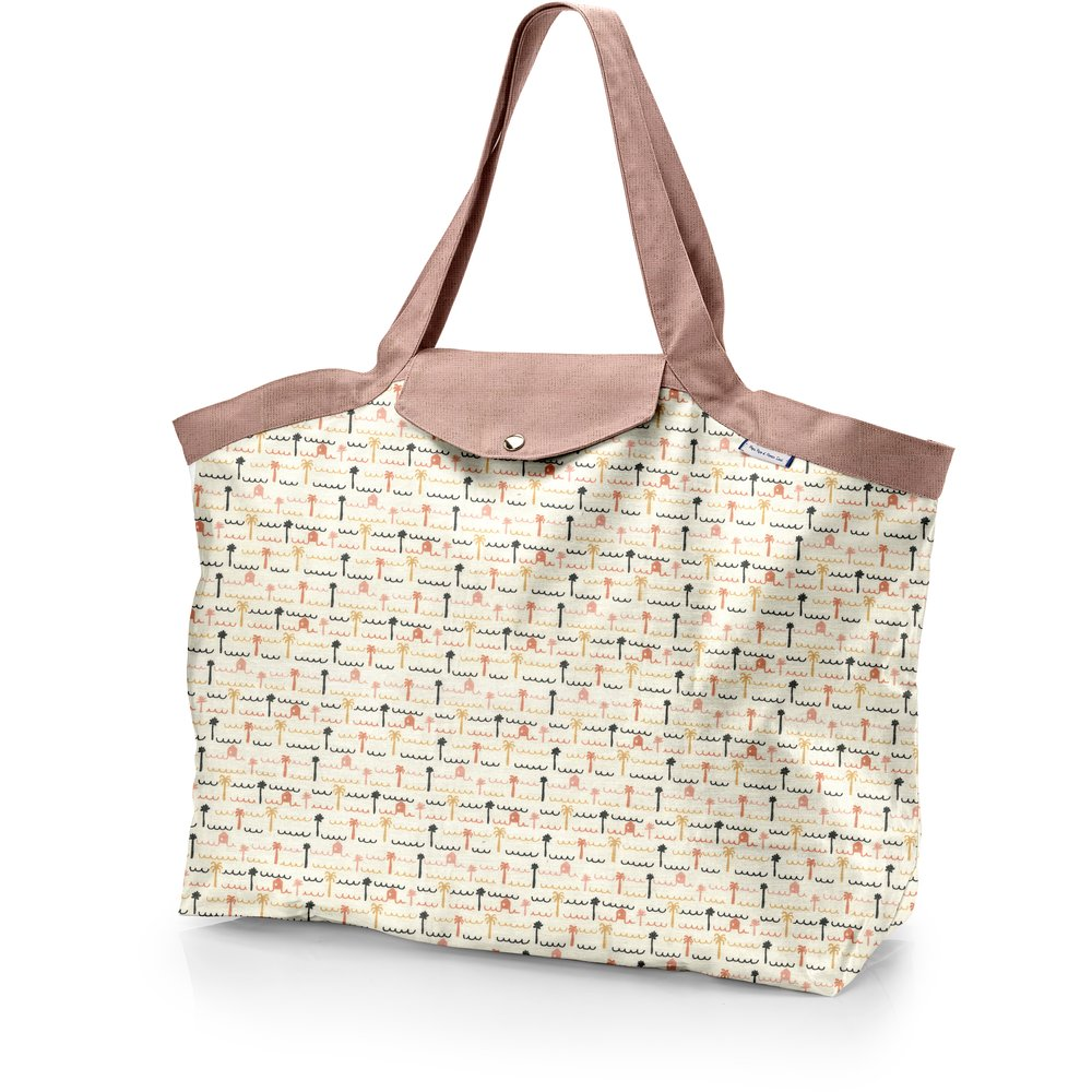 Tote bag with a zip   copa-cabana