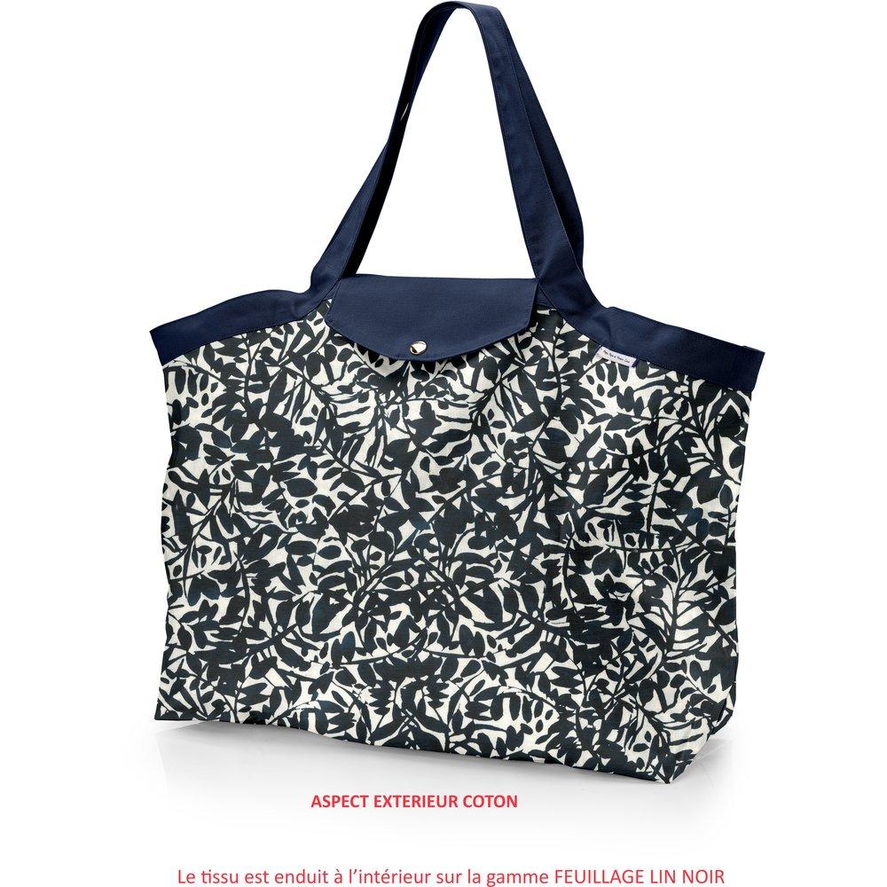 8339f49d1eb2 Grand sac cabas en tissu feuillage encre de chine - PPMC