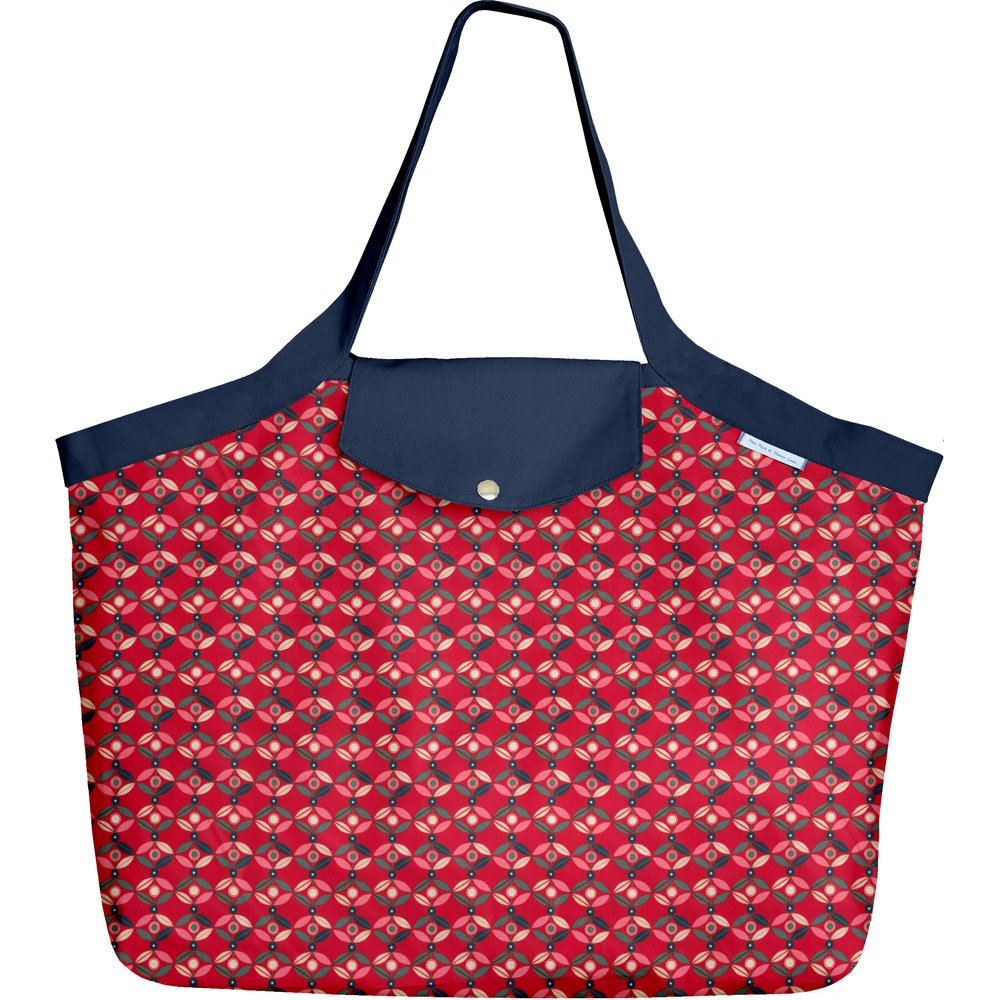 Tote bag with a zip paprika petal