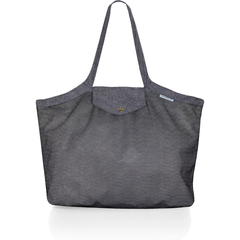 Pleated tote bag - Medium size silver gray