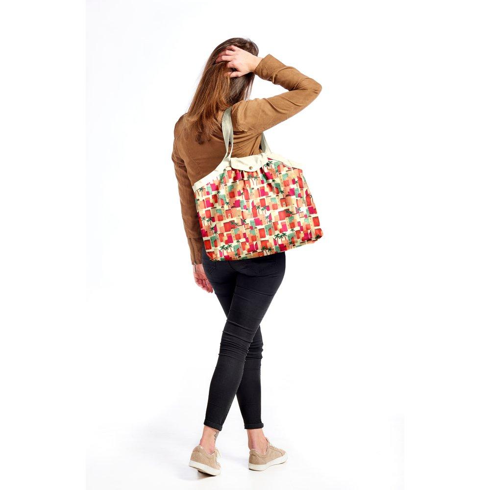 Pleated tote bag - Medium size médina