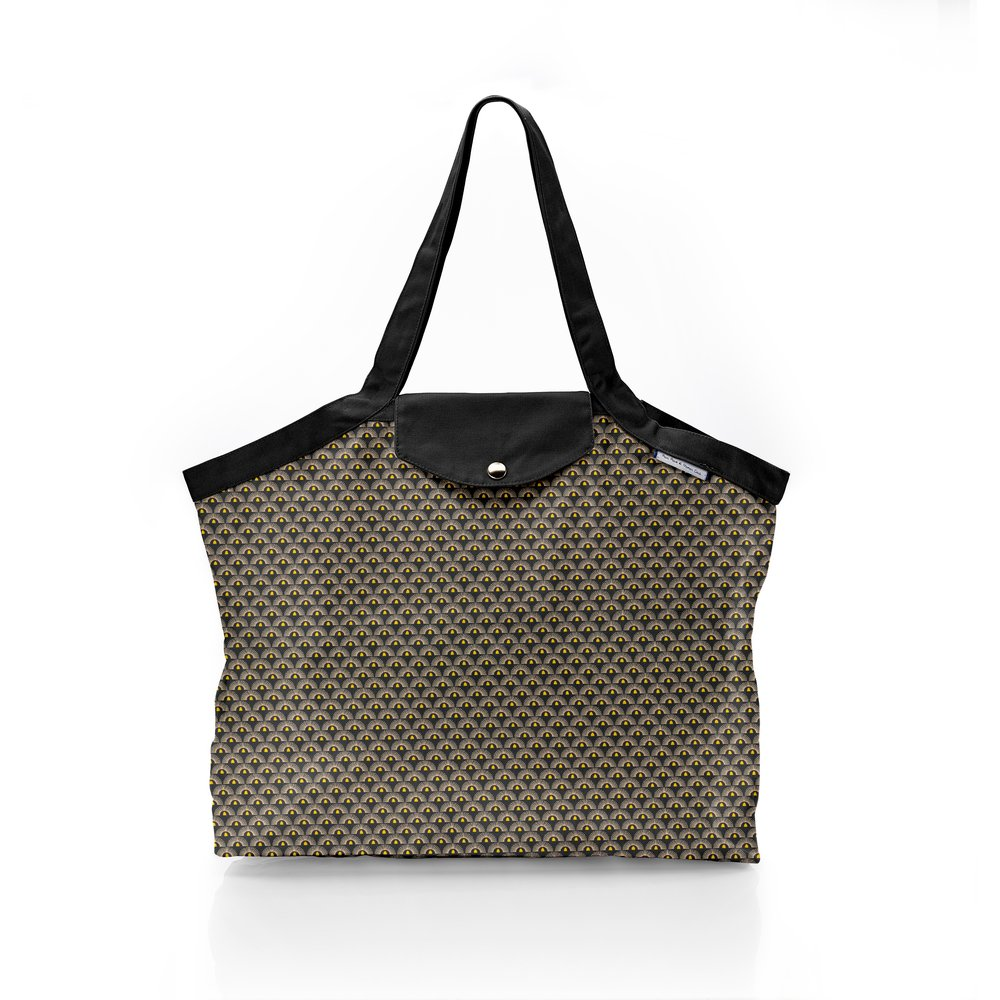 Pleated tote bag - Medium size inca sun