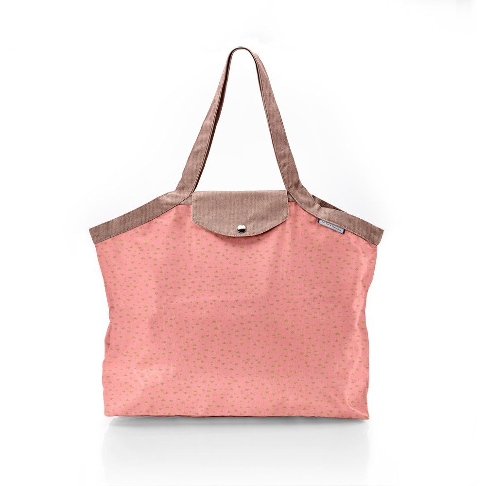 Pleated tote bag - Medium size triangle or poudré