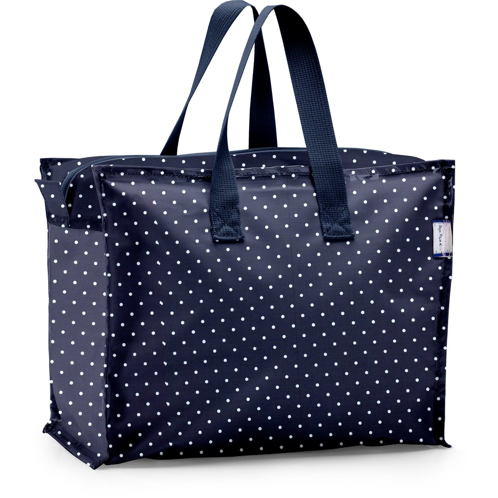 Storage bag navy blue spots