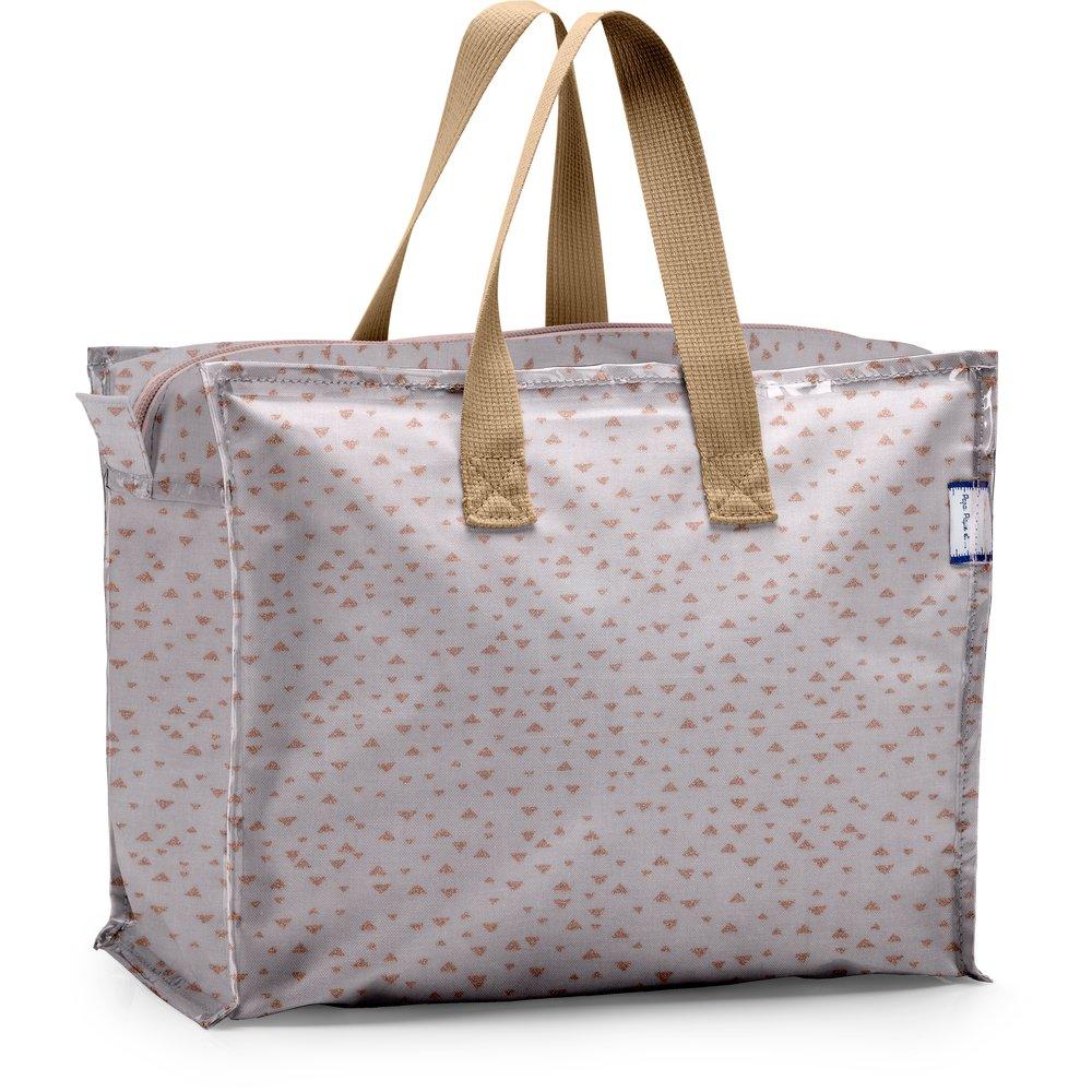 Storage bag triangle cuivré gris