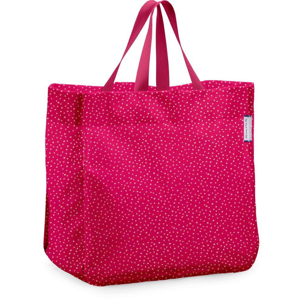 Shopping bag etoile or fuchsia