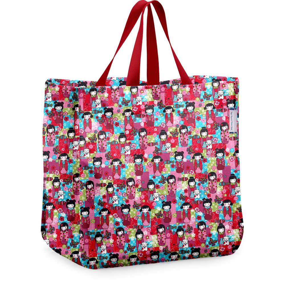 Shopping bag kokeshis
