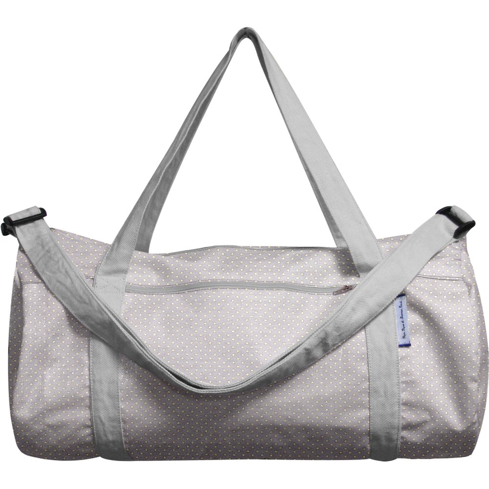 Duffle bag etoile or gris