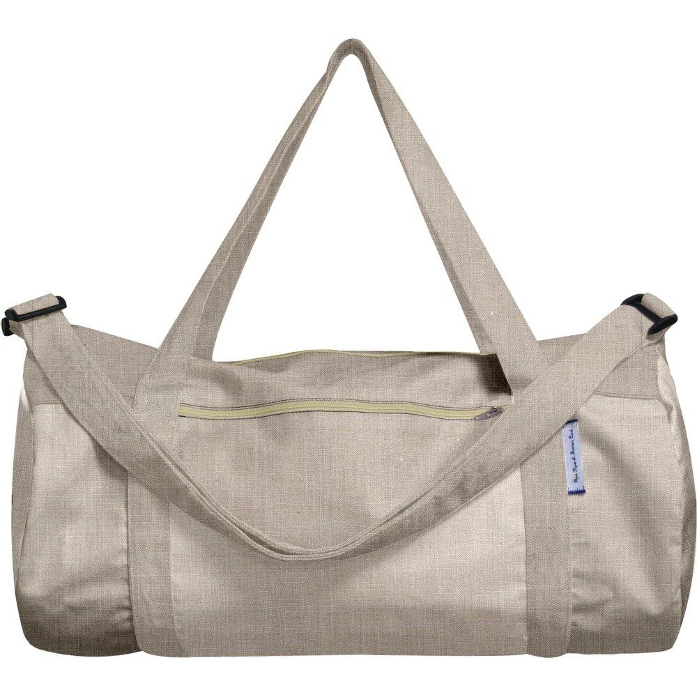 Duffle bag silver linen