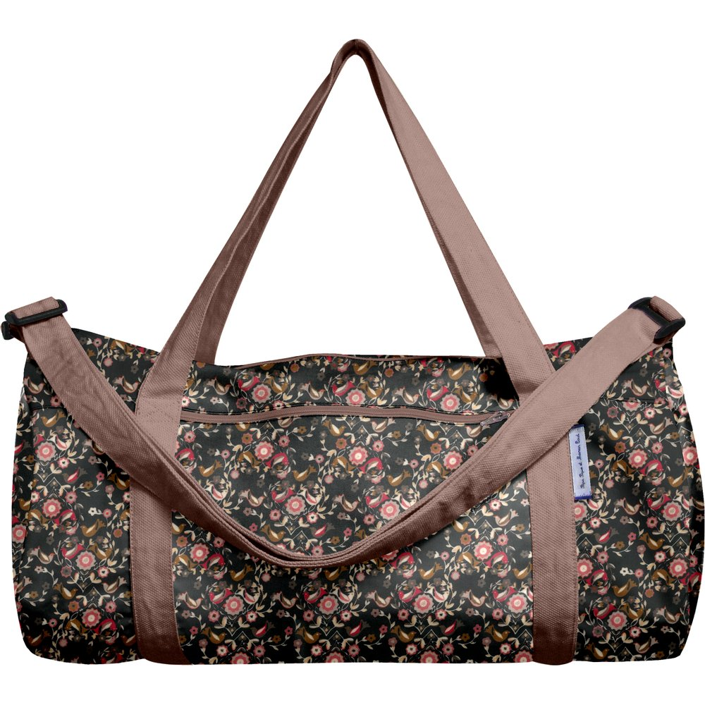 Duffle bag ochre bird