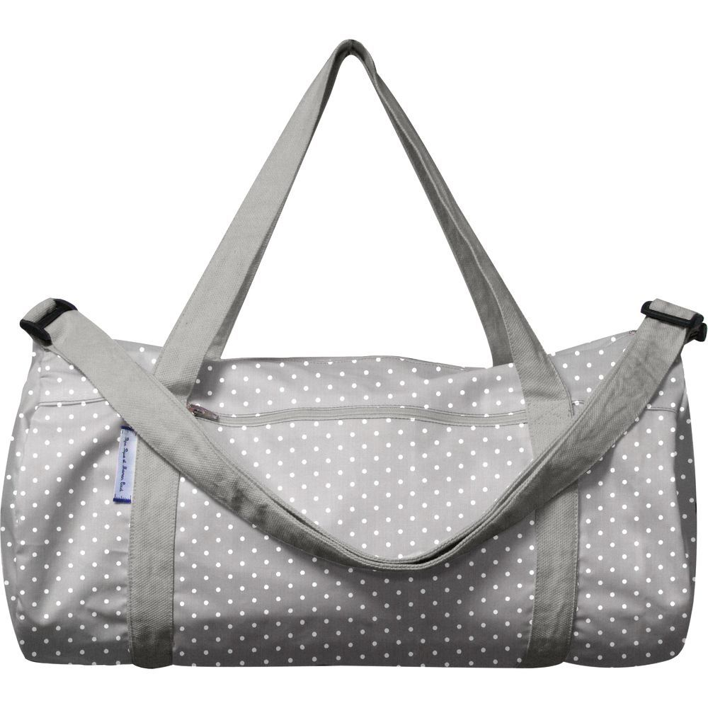 Duffle bag light grey spots