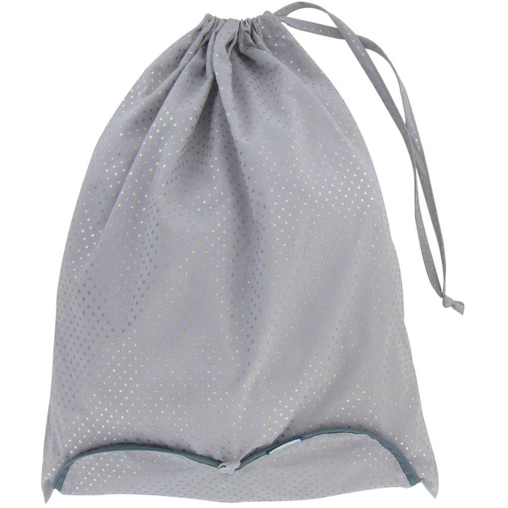 Sac lingerie etoile or gris
