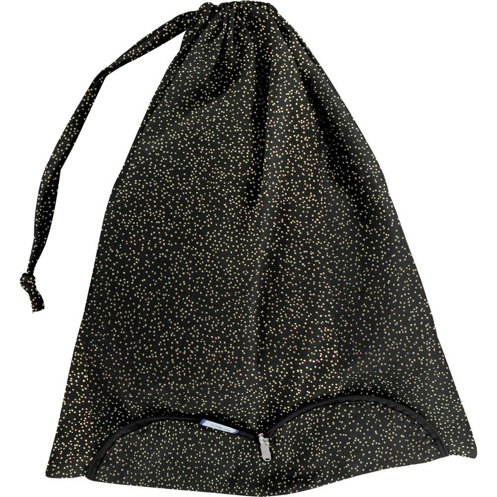 Bolsa para la ropa noir pailleté