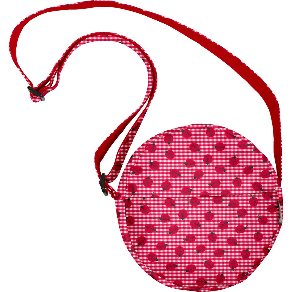 Sac rond vichy coccinelle