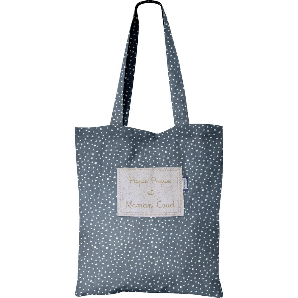 Sac tote bag etoile argent jean