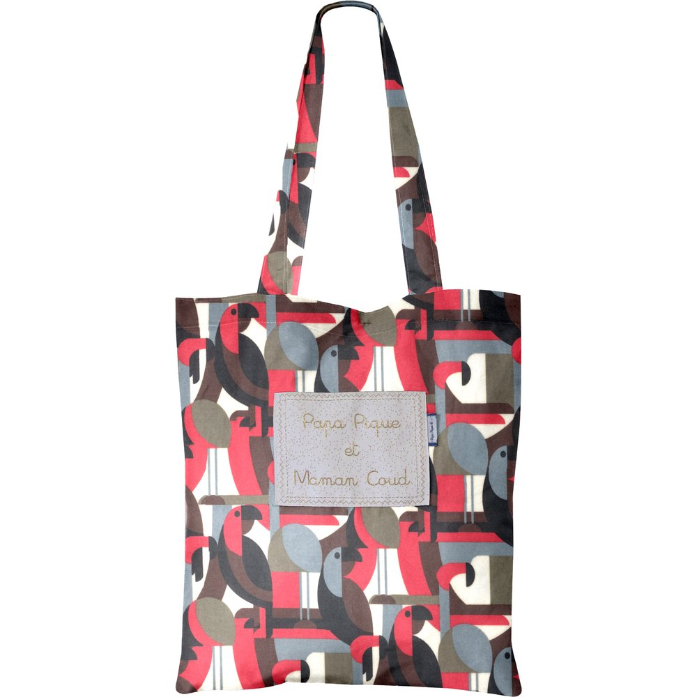 Tote bag pop bird
