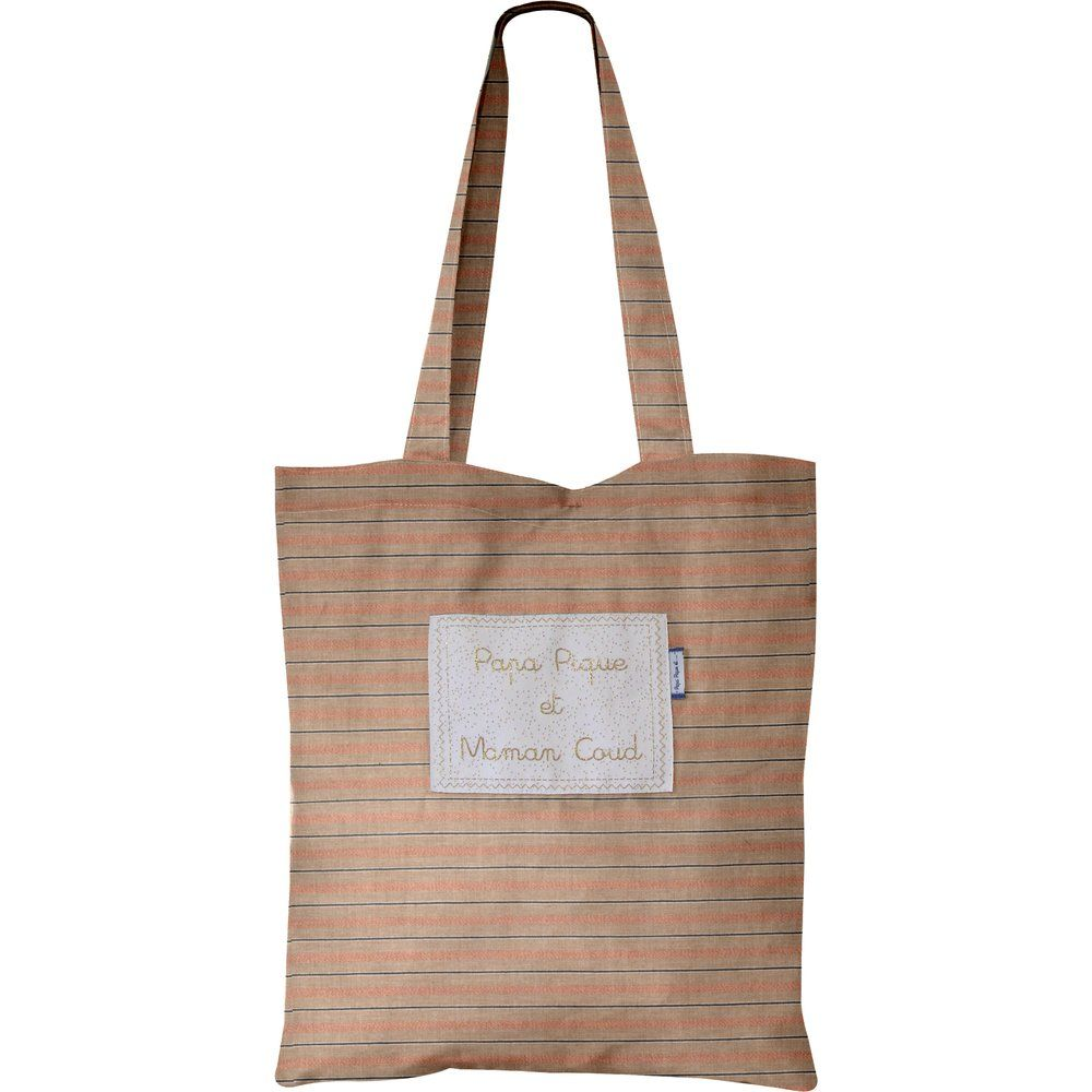 Tote bag bronze copper stripe
