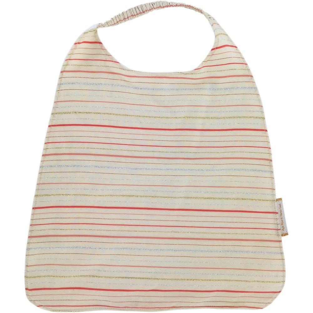 Elastic napkin child silver pink striped