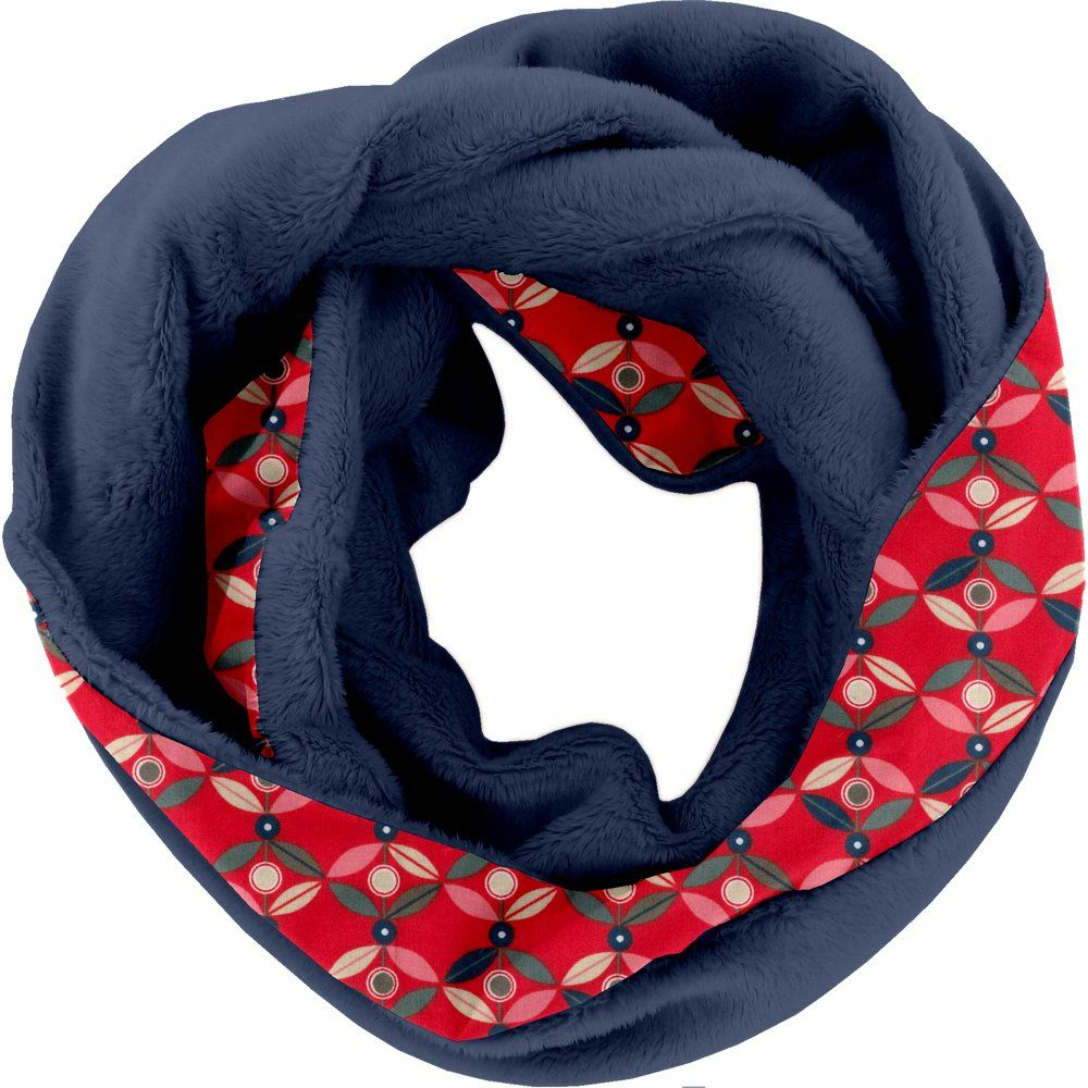 Fleece snood one-size pétale paprika pol marine