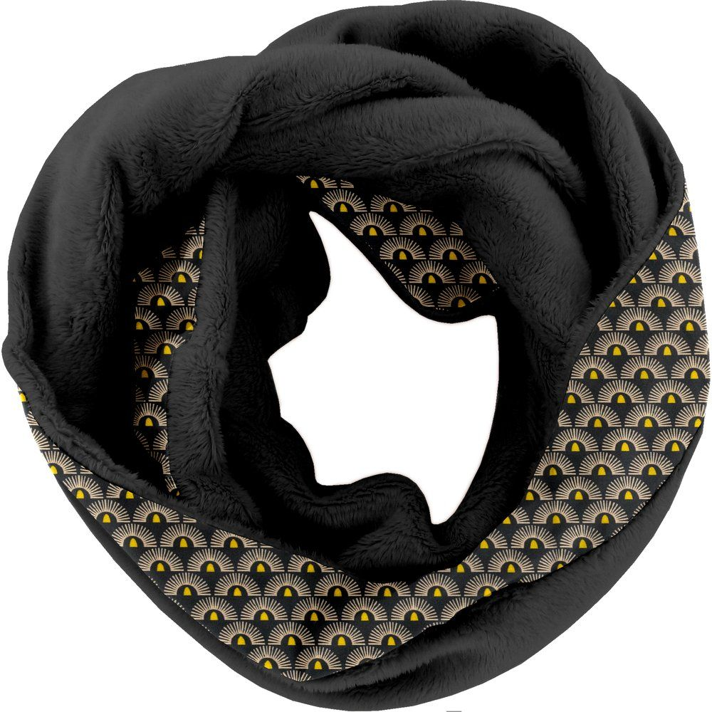 Fleece snood one-size inca sun pol.noire