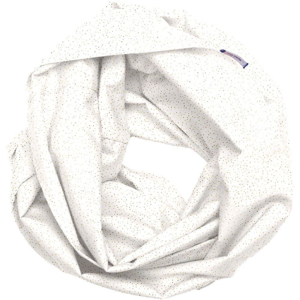 Snood tissu adulte  blanc pailleté