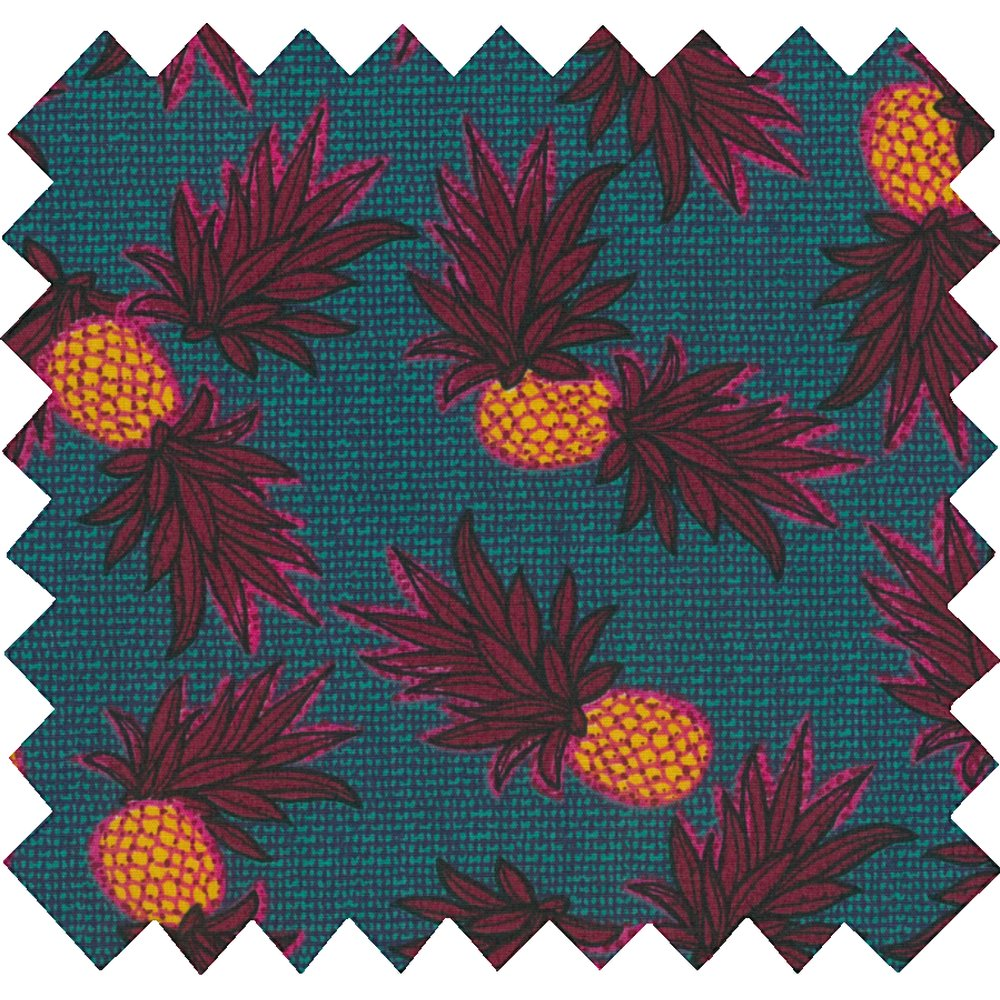 Coupon tissu 50 cm  ananas party