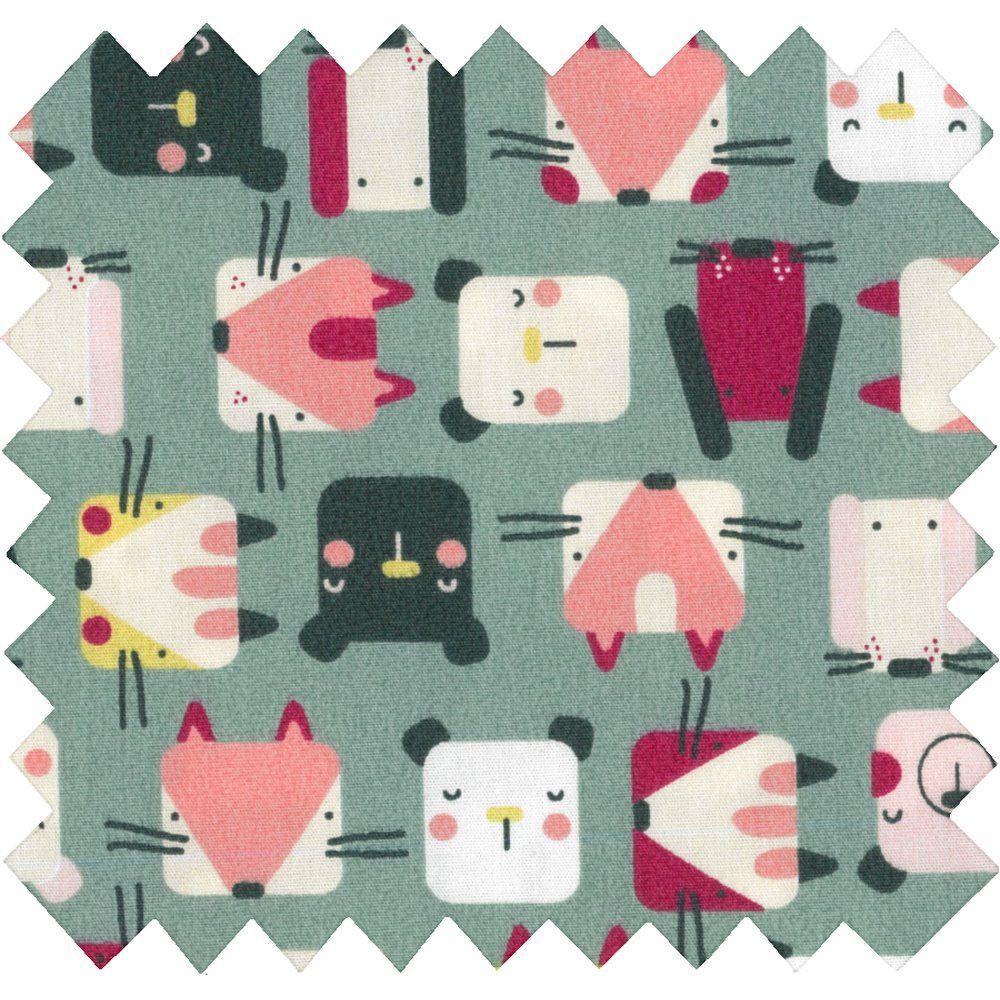 Cotton fabric animals cube
