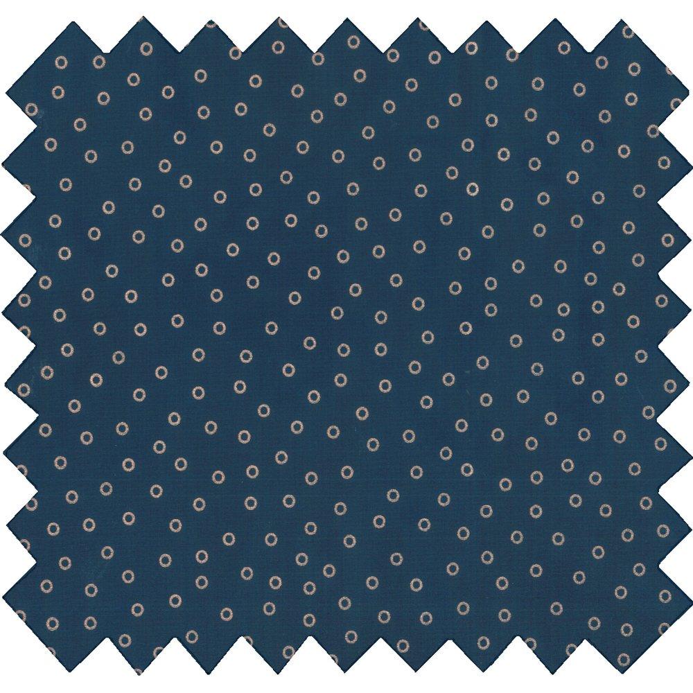Tissu coton bulle bronze marine