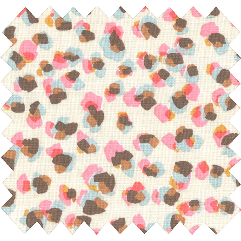 Cotton fabric confetti aqua