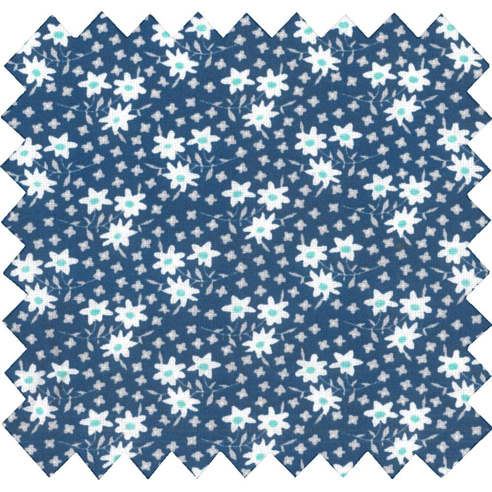 Tissu coton au mètre cosmo marine ex1007
