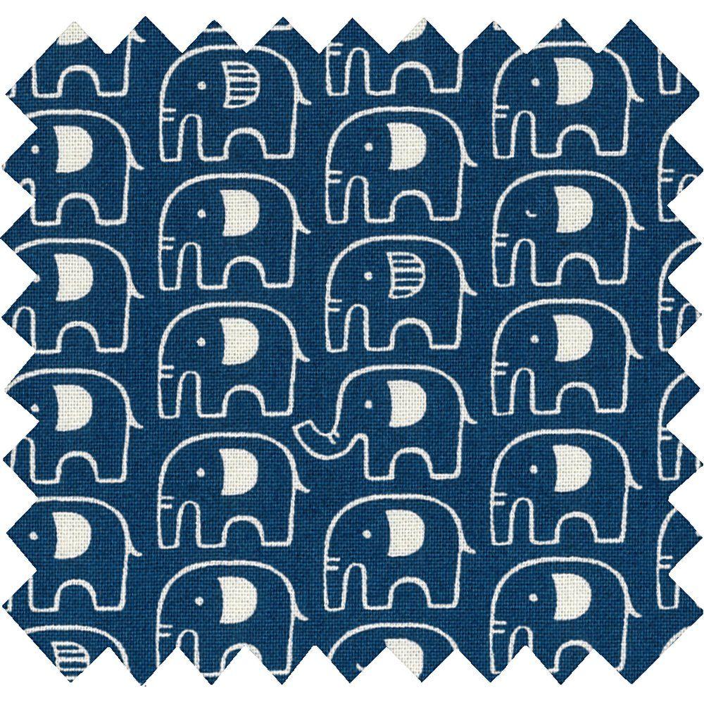 Tissu coton elephant jean