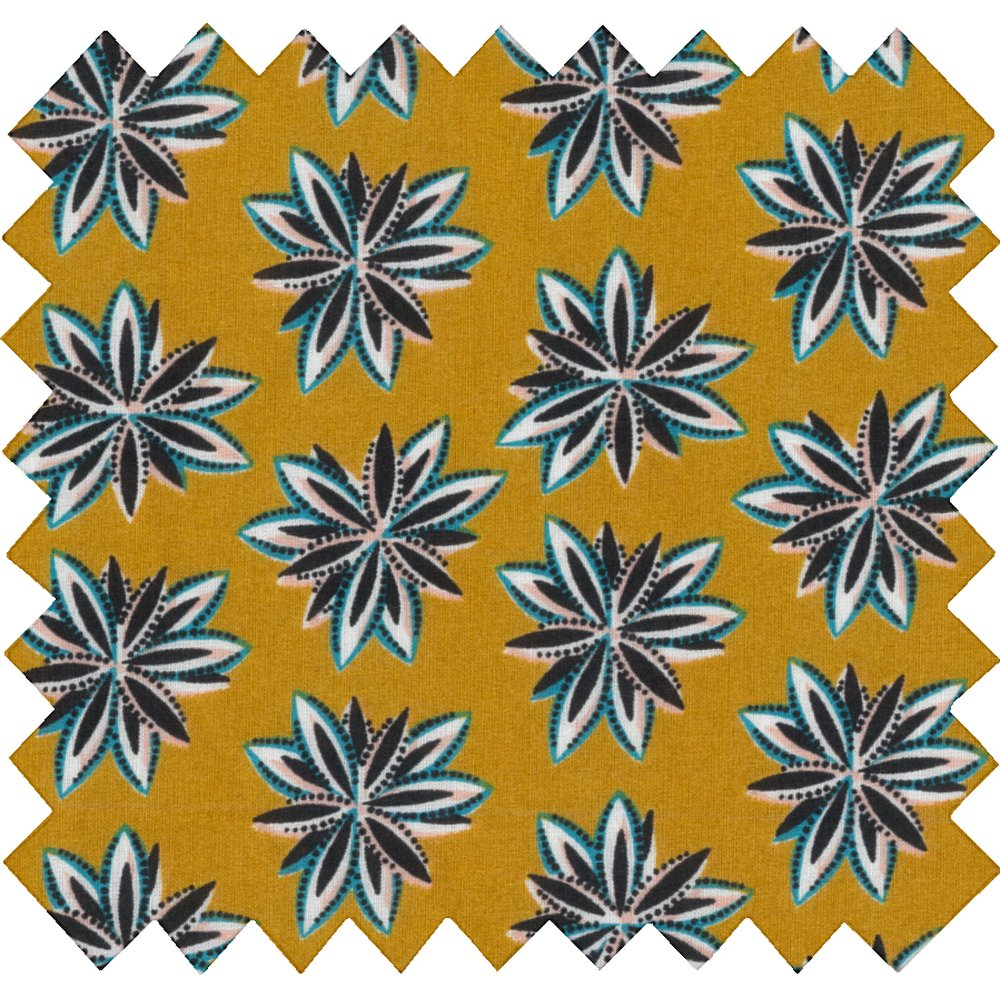 Cotton fabric aniseed star