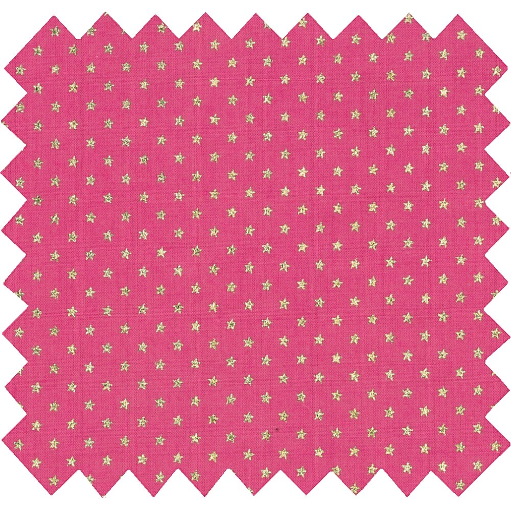 Cotton fabric etoile or fuchsia
