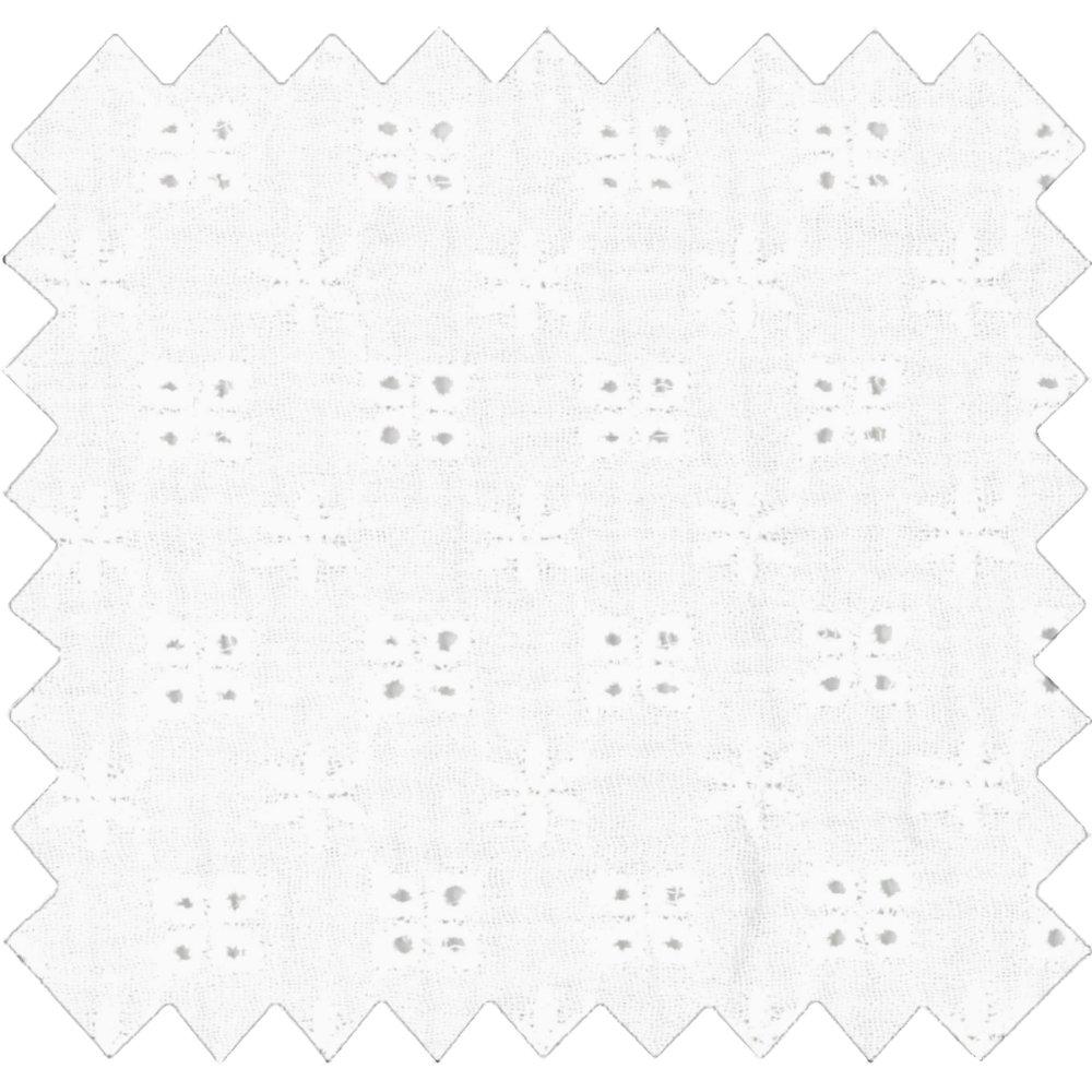 Cotton fabric gaze dentelle écru