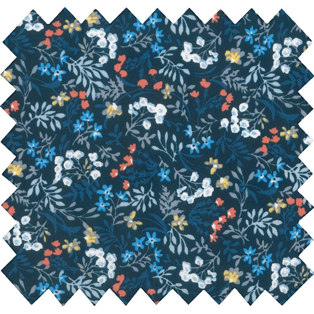 Tissu coton au mètre herbier marine ex1085