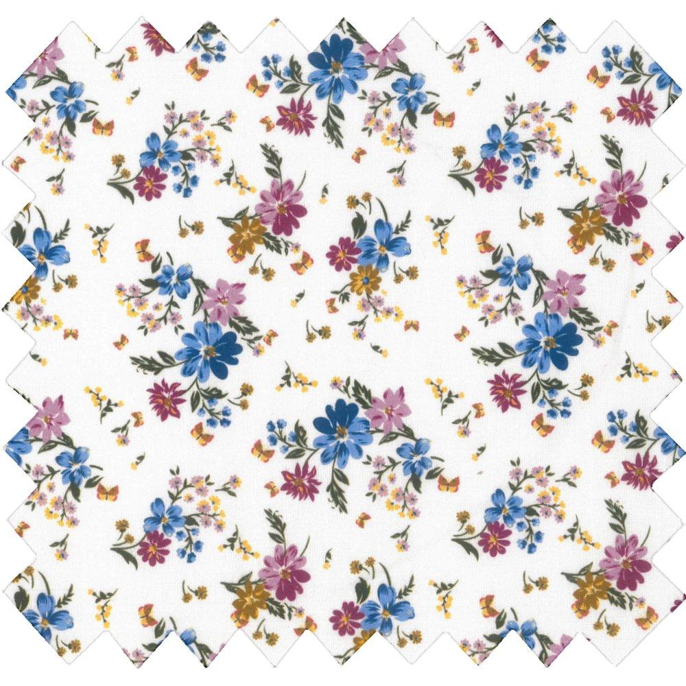 Tissu coton au mètre fleur vintage ex1086