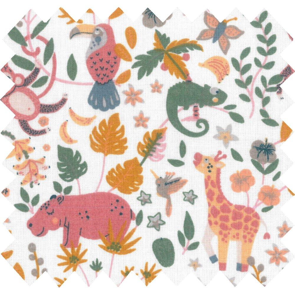 Cotton fabric exotic animals