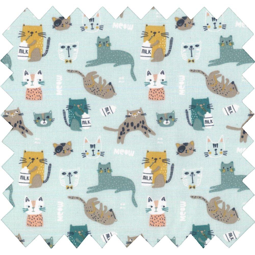 Tissu coton au mètre vie de chats ex1092