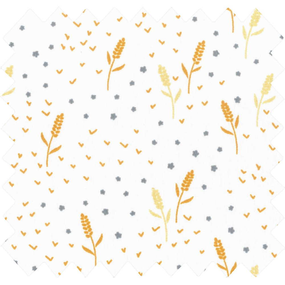 Cotton fabric ears of wheat ex1098